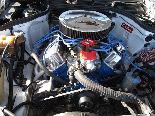 engine with radiator